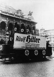 Propagandawagen Wien April 1938 - Propaganda vehicle Vienna April 1938 -
