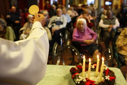 Catholic mass in an elderly persons' home