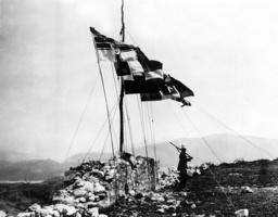 Flags of the great powers in Shkoder, 1913