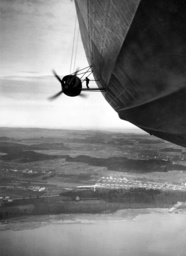 The first passenger flight of the LZ 129 'Hindenburg' over the Lake Constance, 1936
