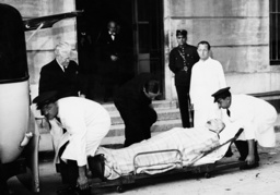 The heavily wounded Jean Louis Barthou is transported, 1934