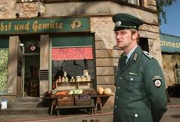 Shooting of the film 'Sonnenallee' in Berlin