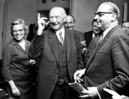Konrad Adenauer and Heinrich von Brentano