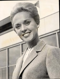 Actress Tippi Hedren Of The New Alfred Hitchcock Film 'the Birds' Arrives At London Airport From New York.
