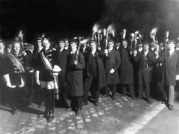 A torchlight procession of the Catholic Students in Vienna, 1913