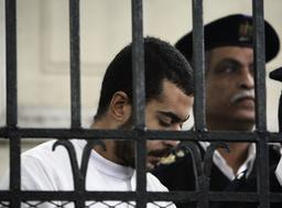 Haitham Nabeel Abdelhamid listens to the verdict at a court in Alexandria