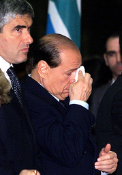 ITALIAN PRIME MINISTER BERLUSCONI ATTEND A MEMORIAL SERVICE AT DUOMO'S CATHEDRAL