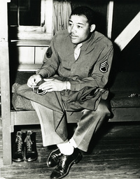 Joe Louis als Soldat / Foto 1945 - Joe Louis as soldier / Photo / 1945 -