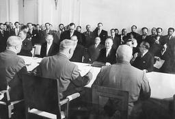 Konrad Adenauer during his visit to Moscow, 1955