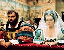 THE TAMING OF THE SHREW, from left: Elizabeth Taylor, Richard Burton, 1967