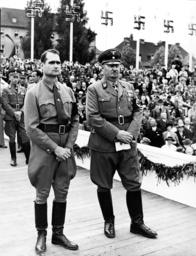Rudolf HeÃ? and Gauleiter Franz Schwede, 1938