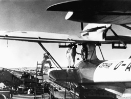 Dornier Do X seaplane 'Zephir' before take off from a catapult, 1936