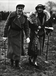 Miss C. Burrell And Mrs Carr-ellison At The Percy West Percy & Lt. Col. Milwains's Hunt Point To Point Races At Heckley.
