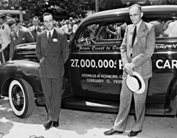 Henry Ford and his son Edsel, 1939