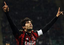 AC Milan's Kaka celebrates scoring against Chievo Verona during their Italian Serie A soccer match in Milan