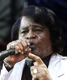 File photo of James Brown performing during a concert in Washington