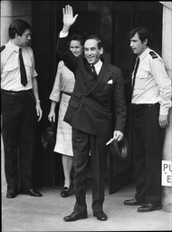 Jeremy Thorpe Mp On The Steps Of The Old Bailey Thorpe Was Put On Trial At Number One Court At The Old Bailey On 8 May 1979 A Week After Losing His Seat. He Was Charged With Attempted Murder And Conspiracy To Murder. One Of The Chief Prosecution Witn
