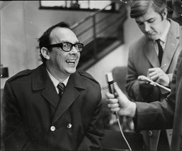 Eric Morecambe (dead 5/84) Pictured Leaving Leeds Infirmary