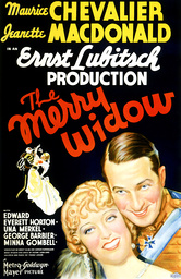 THE MERRY WIDOW, from left: Jeanette MacDonald, Maurice Chevalier, 1934