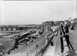 Brighton Palace Pier And West Pier Taken In 1936