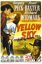YELLOW SKY, US poster, from left: Anne Baxter, Gregory Peck, Richard Widmark, 1948, TM and Copyright