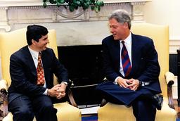 Clinton Welcomes New OAS Secretary General César Gaviria