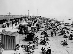 The Beach At Clarence Pier Southsea Hampshire In 1936.