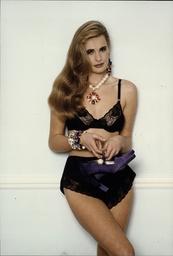 Women Fashion Underwear Model Wearing Debenhams Underwear