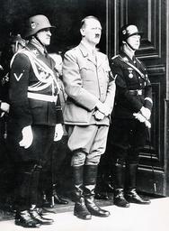 Dietrich, Hitler, Himmler at Hitler's birthday, 1938