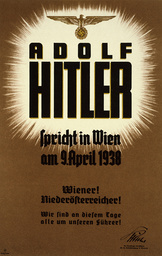 Plakat Hitler in Wien April 1938 - Poster / Hitler in Vienna / April 1938. -
