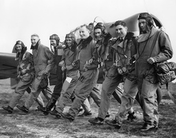 Pilots From The Canadian Air Force Training For The Raf.