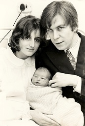 Ian Ross And Wife Hon. Mrs Roxana Ross Parents Of Model Liberty Ross. Mrs Nee Hon Roxana Lampson Daughter Of Lord Killearn. The Couple Are Pictured With Their Six-day-old Son Atticus.