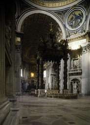 Rom, St.Peter, Baldachin u.Kathedra - Rome, St Peter, Baldacchino and Cathedra -