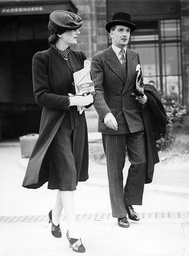 Anthony Eden with his wife, 1939