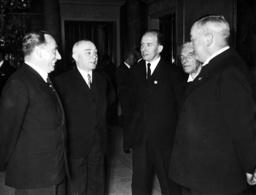 Mikecz, Sztojay, Roland Freisler, Erwin Bumke, Franz Gurtner during a reception, 1938