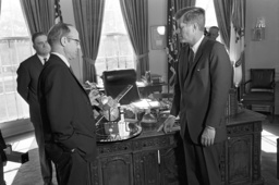 John F. Kennedy receives members of the NASA