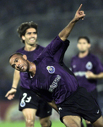 COSTINHA OF PORTO CELEBRATES HIS FIRST GOAL AGAINST PARTIZAN DURING THEIR UEFA CHAMPIONS LEAGUE GROUP F SOCCER MATCH IN BELGRADE