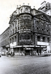 The Strand Tehatre London Pictured In 1975 When It Was Showing No Sex Please We''re British Starring Doris Hare Arthur Howard Richard Caldicot And Andrew Sachs.