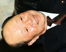 VETERAN POLITICAL SURVIVOR MIYAZAWA MEETS FORMER LDP SECRETARY-GENERAL KATO AT HIS OFFICE IN TOKYO