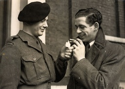 Derek Kinne Winner Of The George Cross In 1954. Pictured Right With His Brother Valentine Kinne.