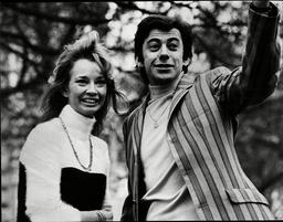 Maggie Clews Disk Jockey On Bbc World Service And Fiancae Screenwriter Brian Degas 1968.