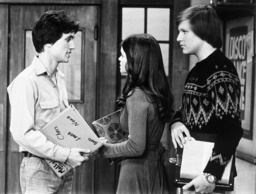 ONE DAY AT A TIME, from left: Scott Colomby, Valerie Bertinelli, John Patch, (ca.'77-'78) 1975-84.