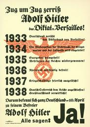 Plakat z. Volksabst./Anschluß Österreich - Poster re. referendum / Aust. Anschluss -