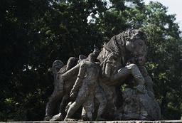 Konarak, Sonnentempel, Springendes Pferd / Skulptur - Konarak, Sun Temple, Jumping Horse / Sculpture - Konarak, temple du Soleil, cheval sautant / Sculpture