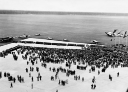Opening of the Rhine-Main airport in Frankfurt by Jakob Sprenger and Erhard Milch, 1936