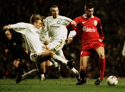 LIVERPOOL FC PLAY LEEDS UNITED SOCCER FA CARLING PREMIERSHIP
