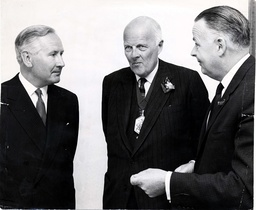 L-r: Leslie O'brien Sir Cyril Black D. G. Howard.