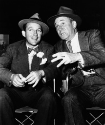 RIDING HIGH, from left, Bing Crosby, William Demarest, on-set, 1950