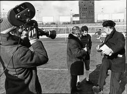 Peter Bonetti Goalkeeper With Chelsea Fc Is Filmed Demonstrating Four Step Rule With Fifa's Ken Aston Stamford Bridge 1970.