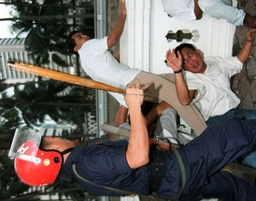 MALAYSIAN RIOT POLICE BATON CHARGE ON PROTESTERS IN KUALA LUMPUR